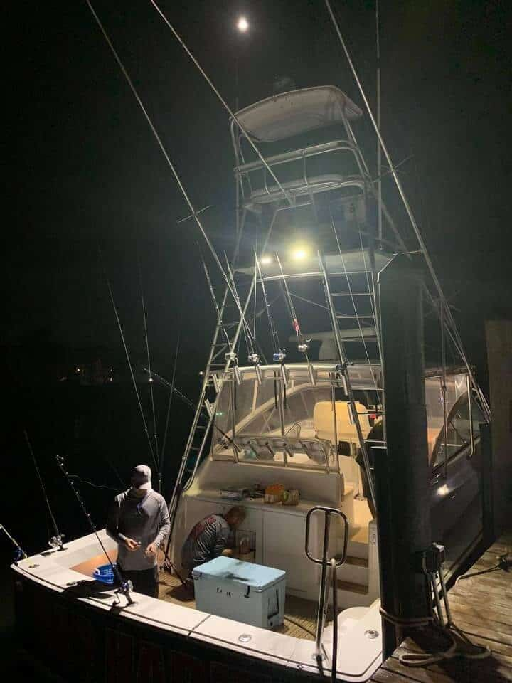 Boat during the night